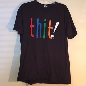 Black THIT! T-shirt with colors in large